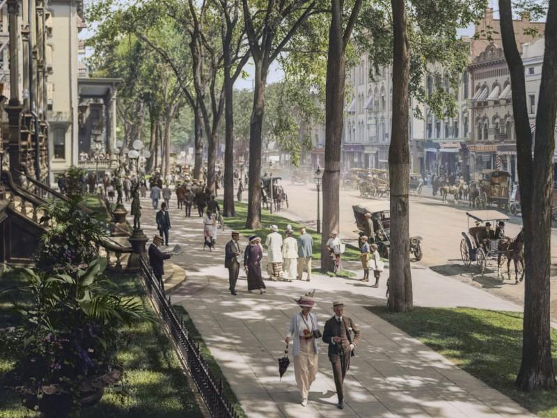 Пазл Собирать пазлы онлайн - Нью-Йорк 1900 года