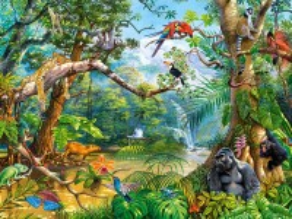 Собирать пазл Обитатели джунглей онлайн