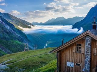 Собирать пазл Облако над долиной онлайн