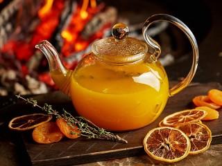 Собирать пазл Облепиховый чай онлайн
