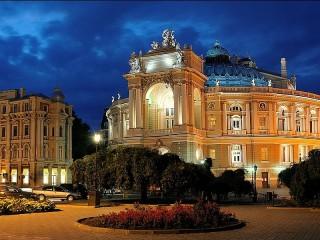 Собирать пазл Одесский театр онлайн
