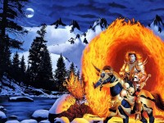 Собирать пазл Огненный всадник онлайн