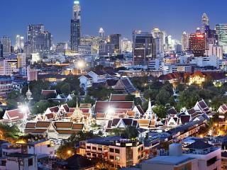 Собирать пазл Огни Бангкока онлайн