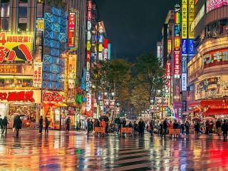 Собирать пазл Огни Токио онлайн