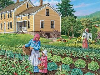 Собирать пазл Огородницы онлайн