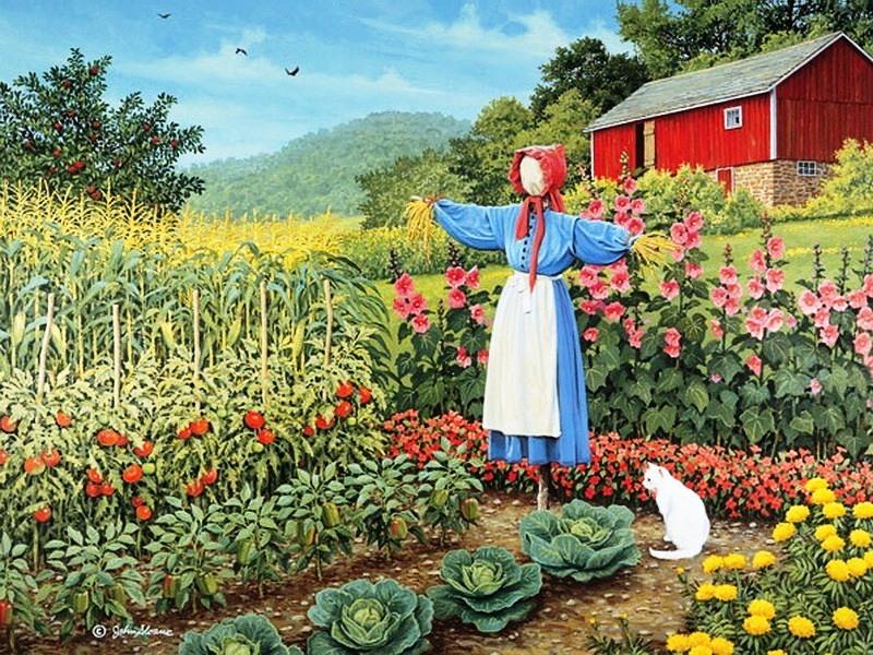 Пазл Собирать пазлы онлайн - Огородное пугало