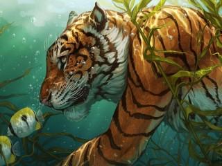 Собирать пазл Охота на рыб онлайн