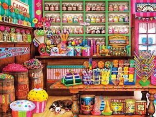 Собирать пазл Охранник сладостей онлайн