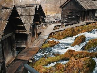 Собирать пазл Old Watermills онлайн