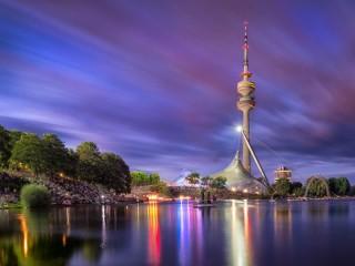 Собирать пазл Олимпийский парк в Мюнхене онлайн