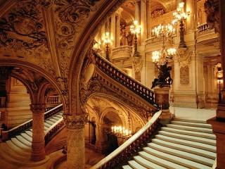 Собирать пазл Опера при свечах онлайн