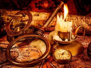 Собирать пазл Оплывшая свеча онлайн