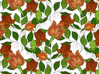 Собирать пазл Оранжевые цветы онлайн