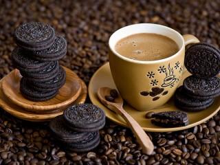 Собирать пазл Орео и кофе онлайн