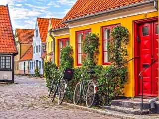 Собирать пазл Орхус Дания онлайн