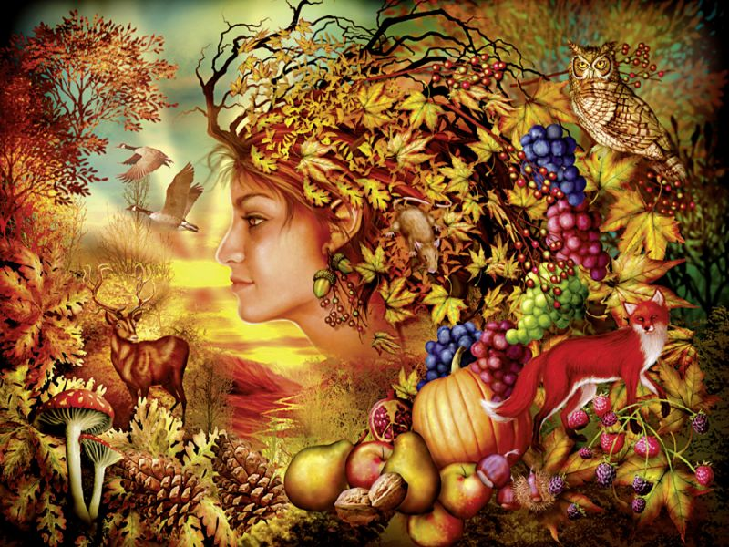 Пазл Собирать пазлы онлайн - Осень чудес