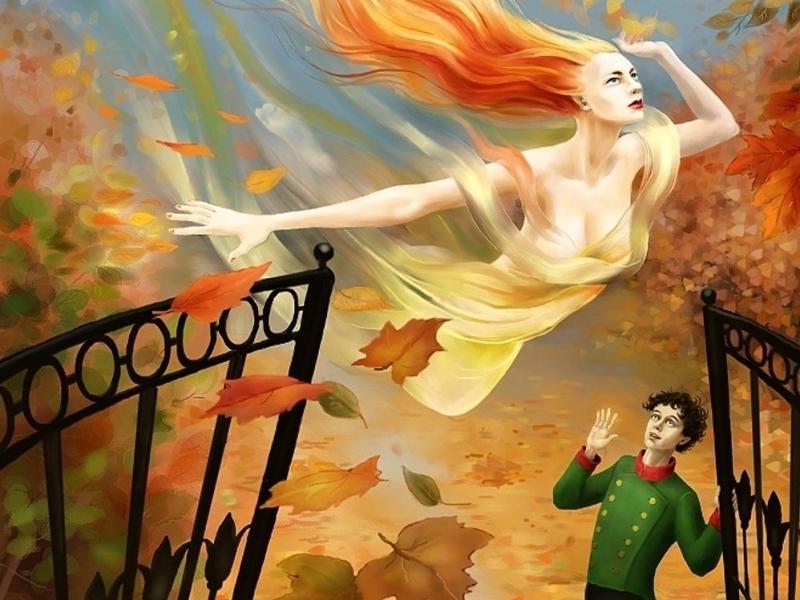 Пазл Собирать пазлы онлайн - Осень и юноша
