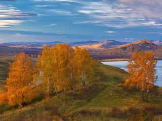 Собирать пазл Осень на Урале онлайн