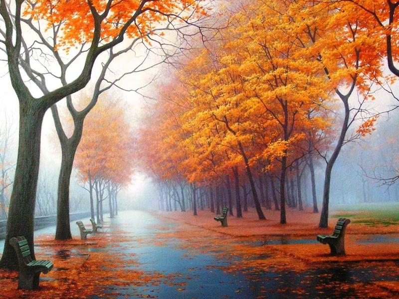 Пазл Собирать пазлы онлайн - Осень наступила