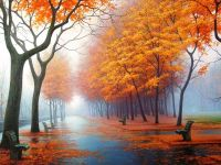 Собирать пазл Осень наступила онлайн