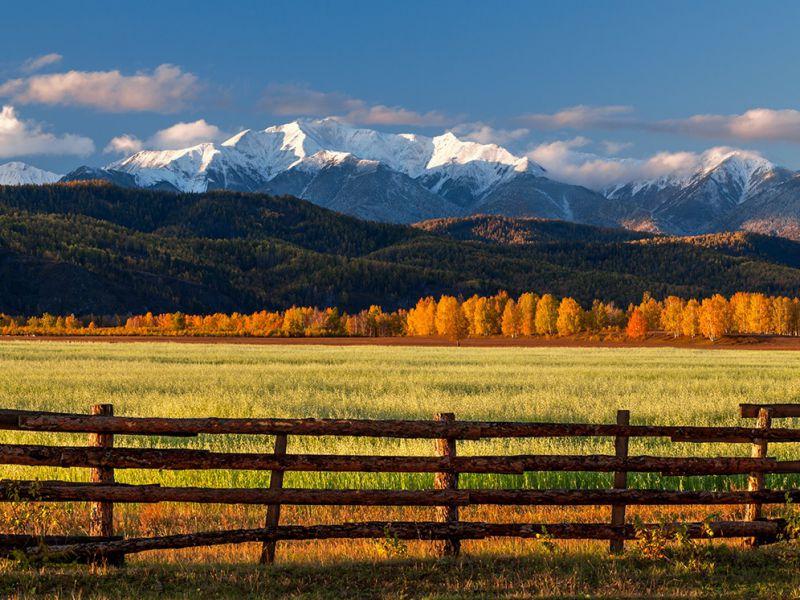 Пазл Собирать пазлы онлайн - Осень в долине