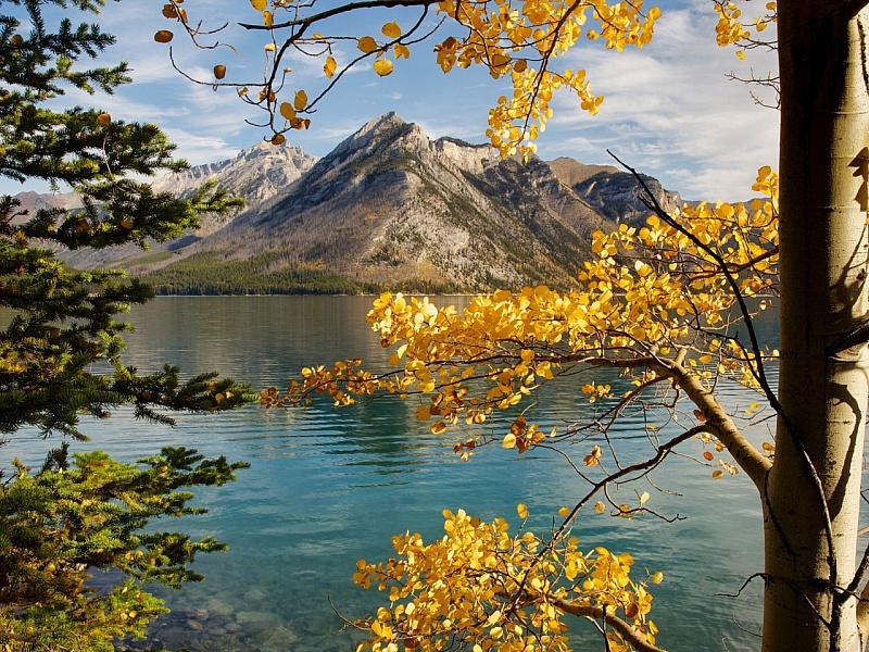 Пазл Собирать пазлы онлайн - Осень в горах