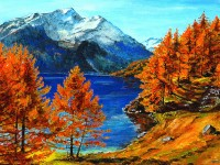 Собирать пазл Осень в горах онлайн