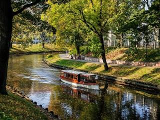 Собирать пазл Осень в парке онлайн