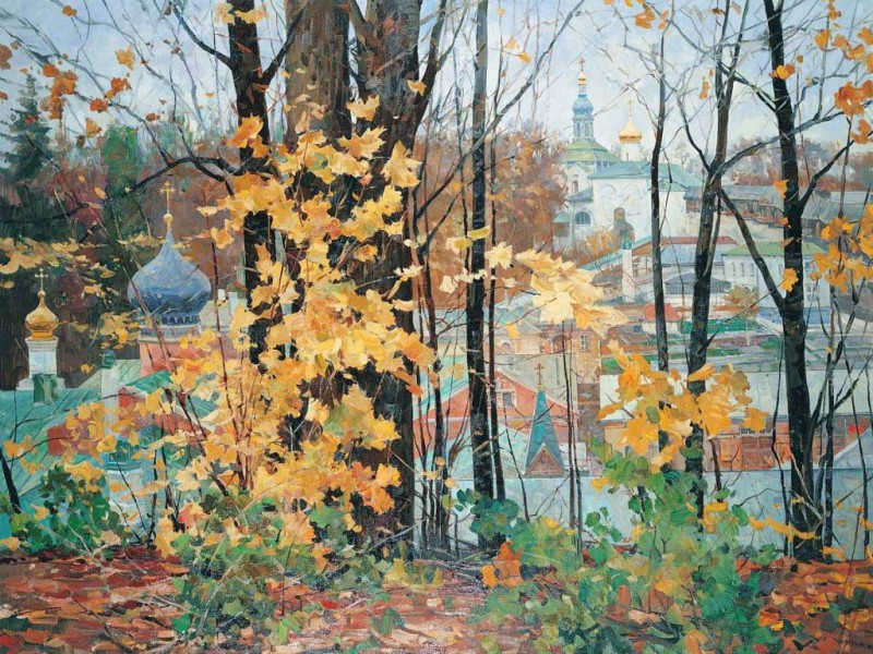 Пазл Собирать пазлы онлайн - Осень в Печорах