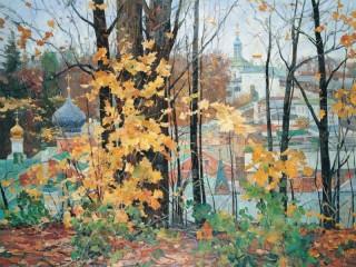 Собирать пазл Осень в Печорах онлайн