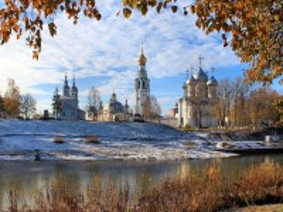 Собирать пазл Осень в Вологде онлайн