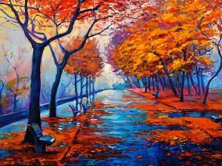 Собирать пазл Осеннее настроение онлайн