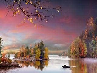 Собирать пазл Осенние краски онлайн