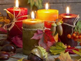 Собирать пазл Осенние свечи онлайн