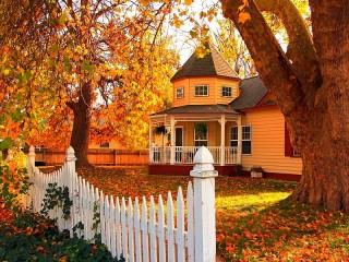 Собирать пазл Осенний день онлайн