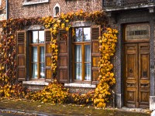 Собирать пазл Осенний дом онлайн