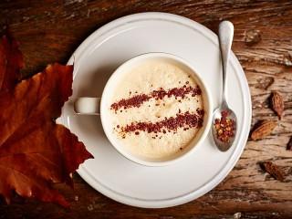 Собирать пазл Осенний кофе онлайн