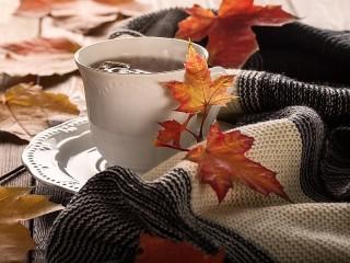 Собирать пазл Осенний напиток онлайн