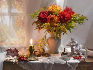 Собирать пазл Осенний натюрморт онлайн