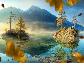 Собирать пазл Осенний ветер онлайн