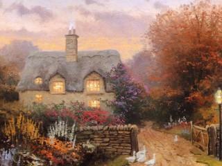Собирать пазл Осенний сад онлайн