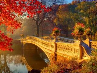 Собирать пазл Осенняя дымка онлайн