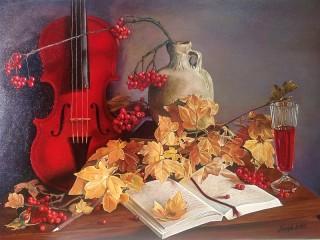 Собирать пазл Осенняя мелодия онлайн