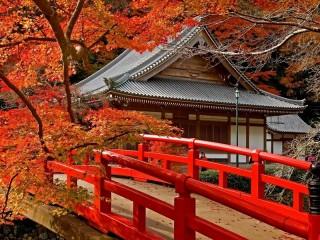 Собирать пазл Осенняя Япония онлайн