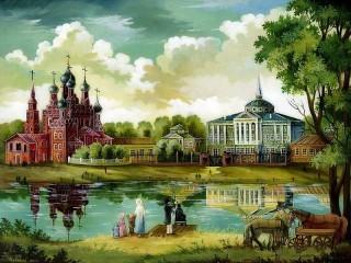 Собирать пазл Останкинский дворец онлайн