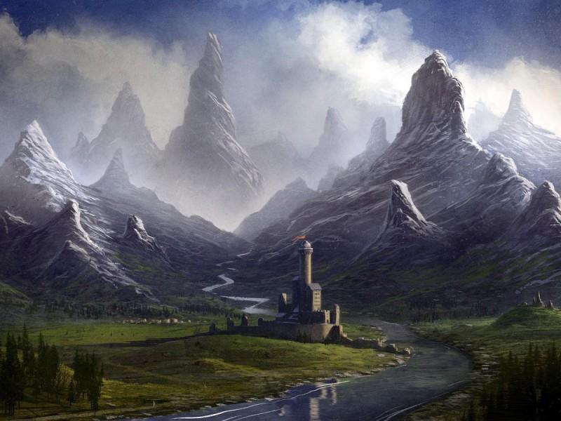 Пазл Собирать пазлы онлайн - Остроконечные скалы
