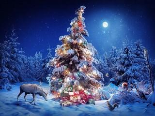 Собирать пазл От Деда Мороза онлайн