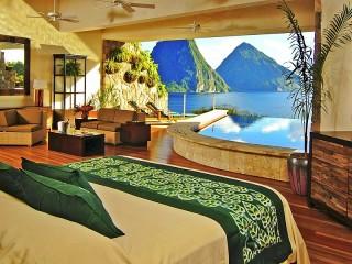Собирать пазл Отель с бассейном онлайн