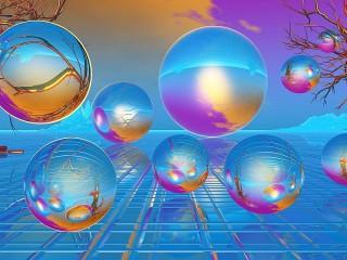 Собирать пазл Отполированные шары онлайн