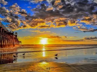 Собирать пазл Отражение солнца онлайн